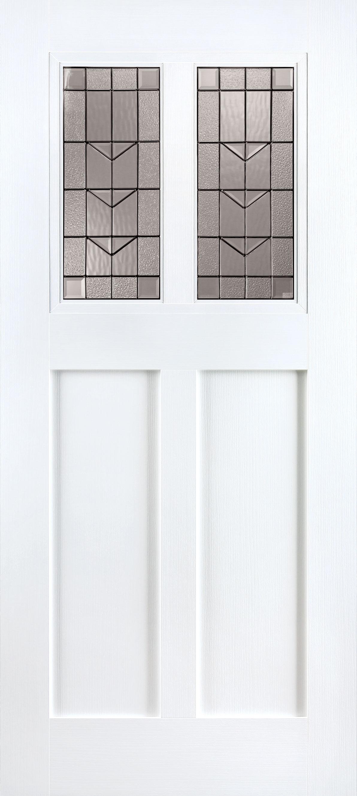 Trinity Glass Camas™ Pure White Entry Door